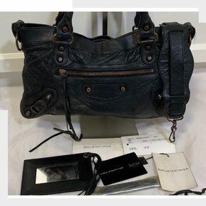 Auth BALENCIAGA 1St Classic Hardware The City Bag